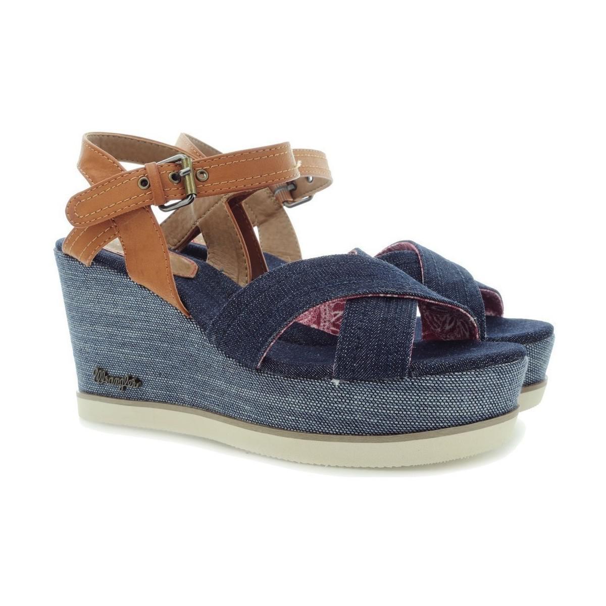 Cheap Sale From China Inexpensive Wrangler Jeena Indigo Cross WL171680 women's Sandals in awg66YKqTi