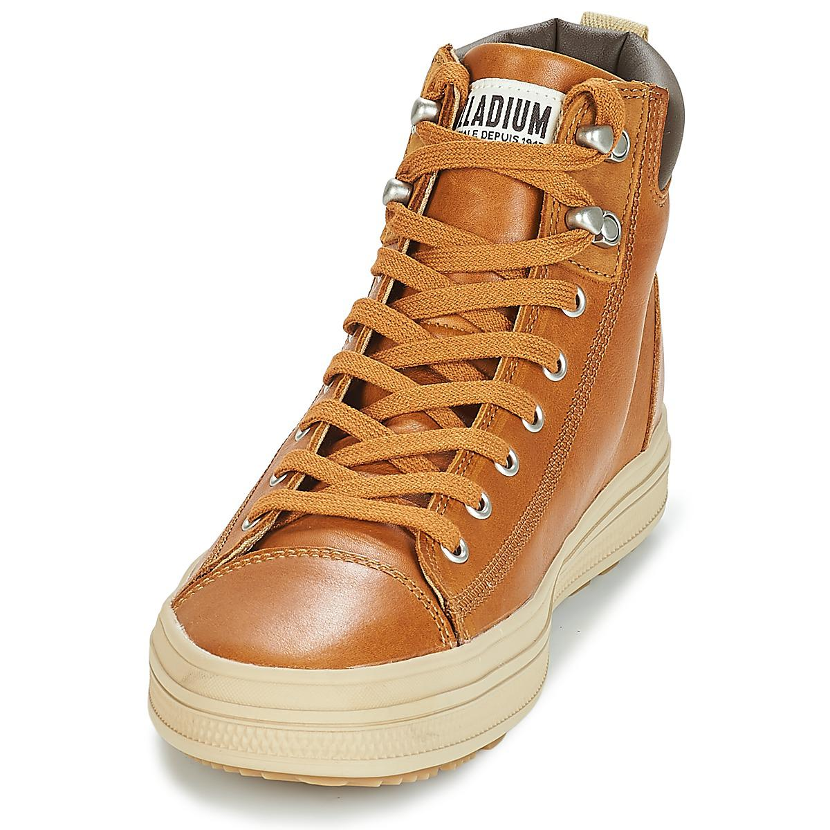 6b856f2cb4b Palladium Sub Mid Cuff Men s Shoes (high-top Trainers) In Brown in ...