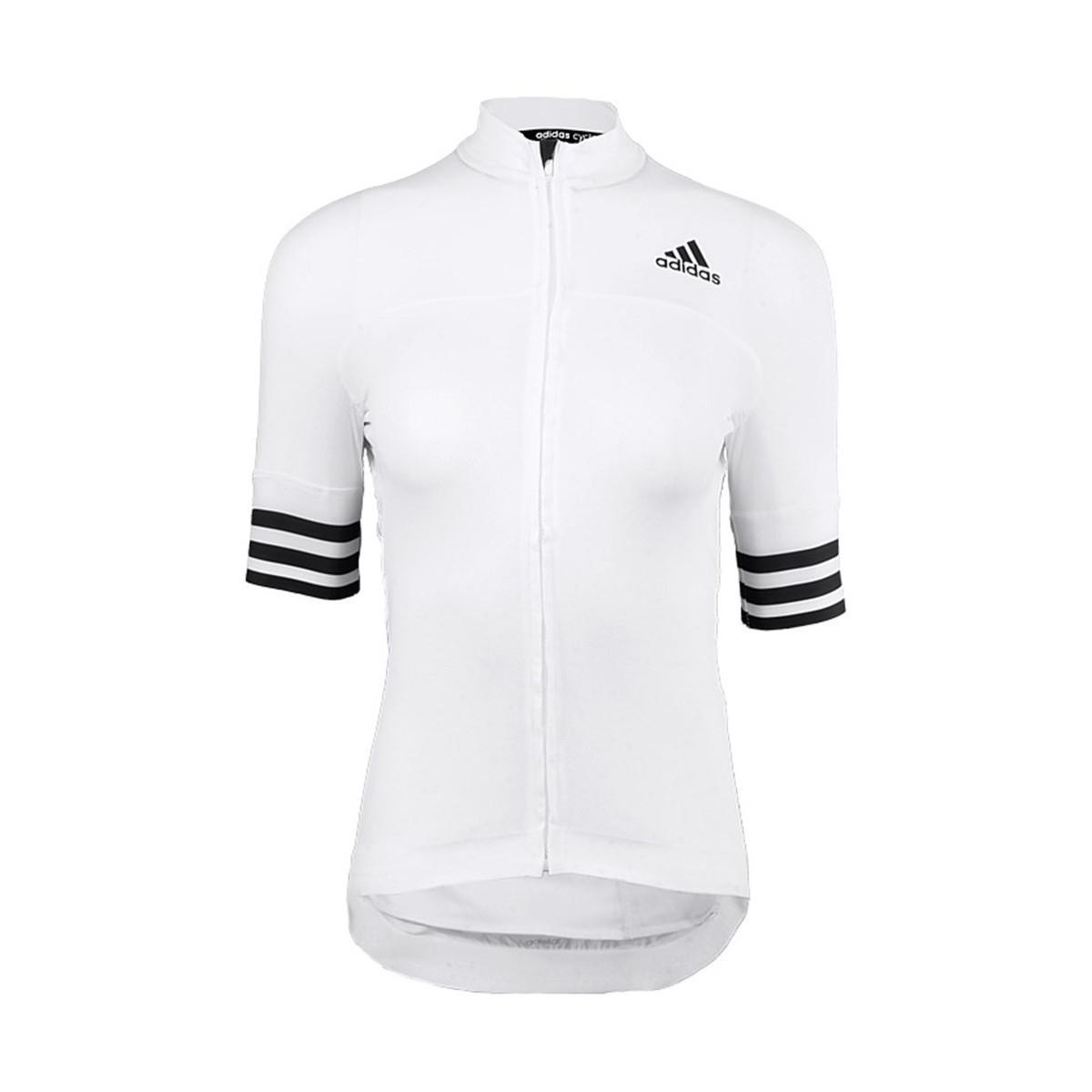 Adidas - Adistar Shortsleeve Jersey W Women s T Shirt In White - Lyst. View  fullscreen 68d47a704