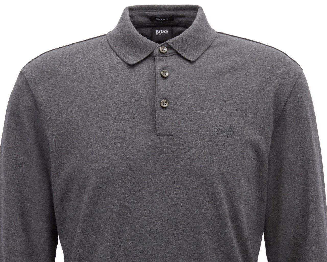 c9c0052a4 BOSS Pado 11 Long Sleeves Polo Shirt Grey in Gray for Men - Lyst