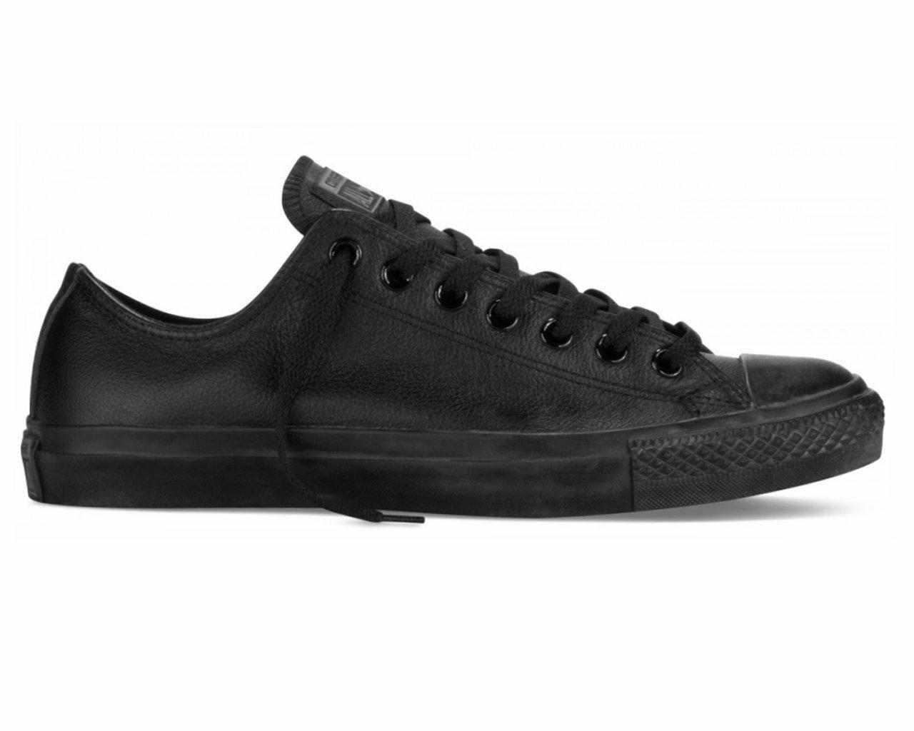 21a075da8c4 Converse - Chuck Taylor All Star Ox C Leather Trainers Black Mono for Men -  Lyst. View fullscreen