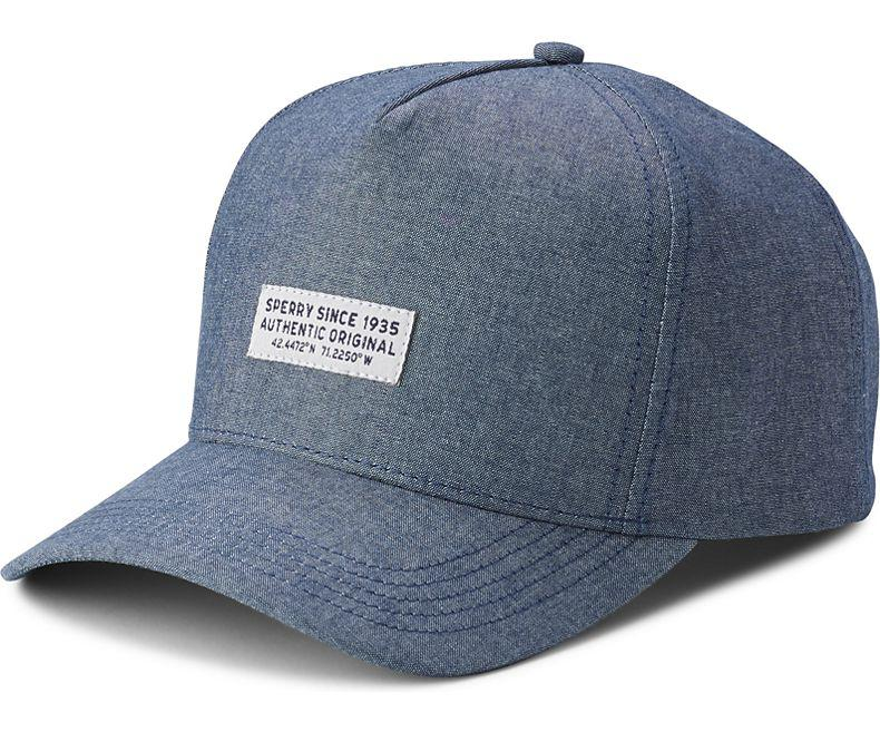 bc45ab13f4b9a Lyst - Sperry Top-Sider Unisex Chambray Stamp Hat in Blue - Save 32%