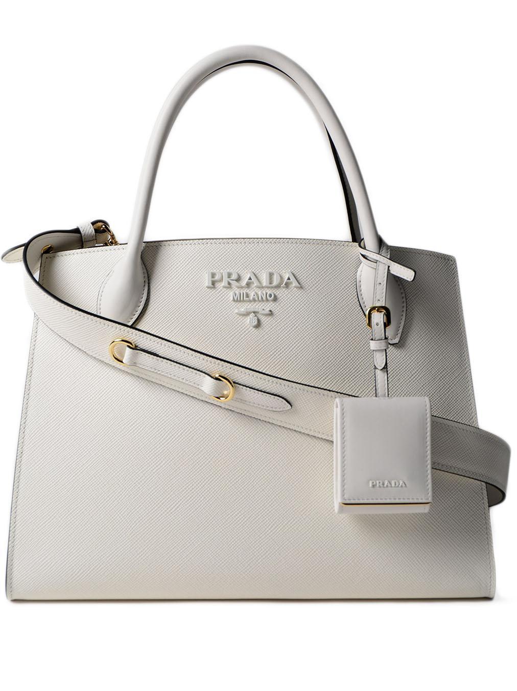 6e75949f09a0 Prada Monochrome Handbag - Lyst