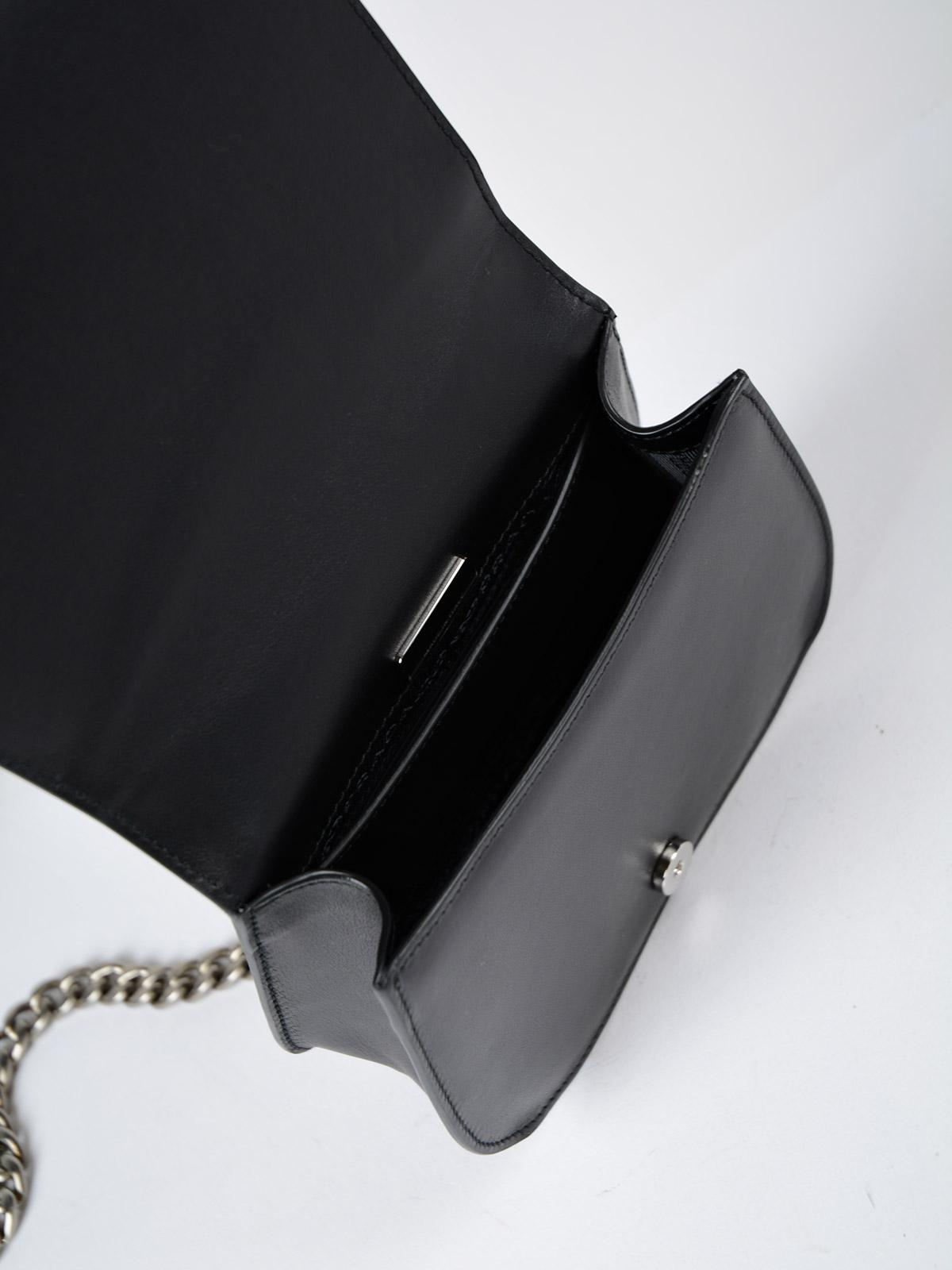 Prada Leather Antic Soft Crossbody in Black