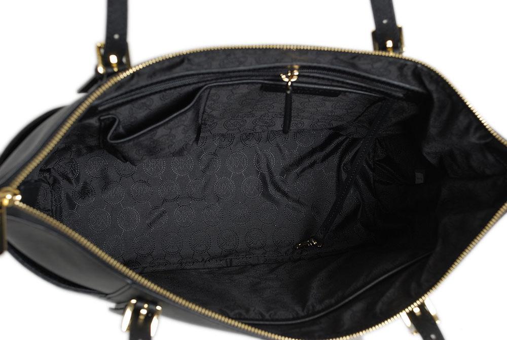 Michael Kors Leather Jet Set Item Lg Ew Tz Tote in Black