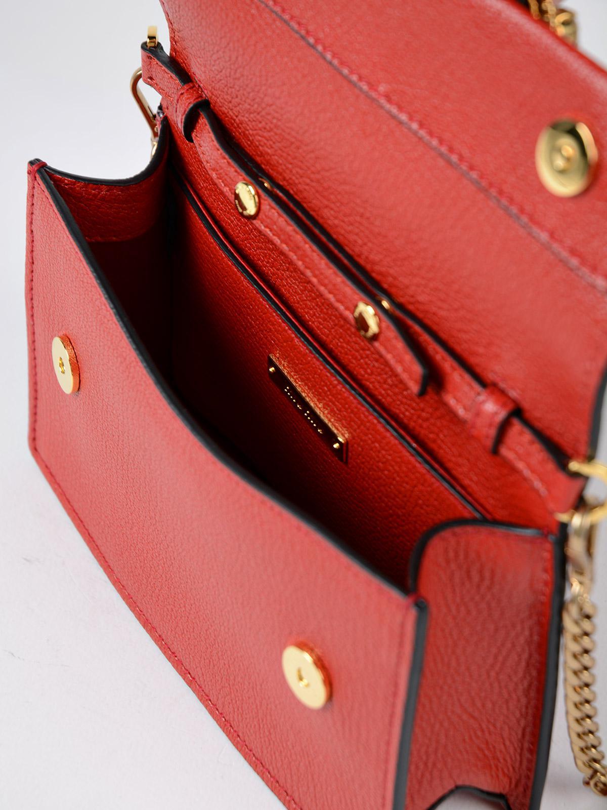 Miu Miu Madras Soft Calf Belt Bag In Red Lyst