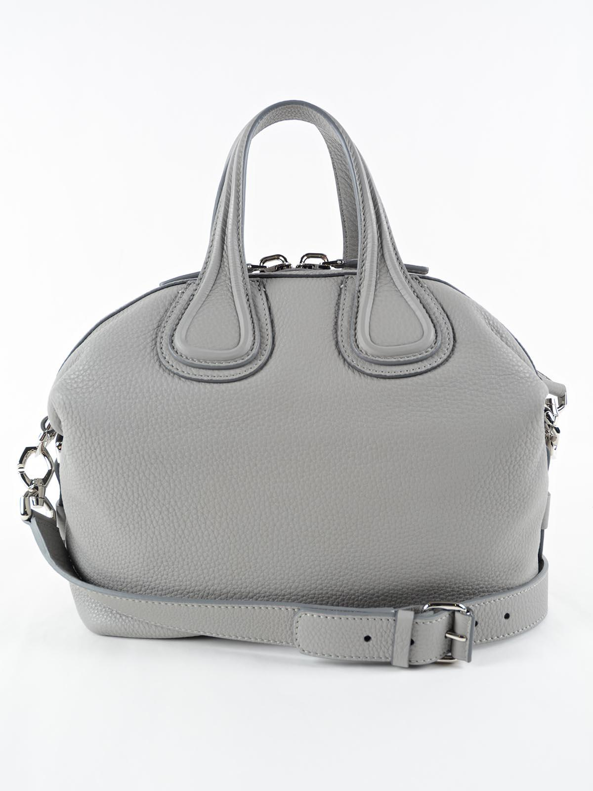 0b15c731d9 Givenchy Nightingale Small Grey Leather Tote in Gray - Lyst
