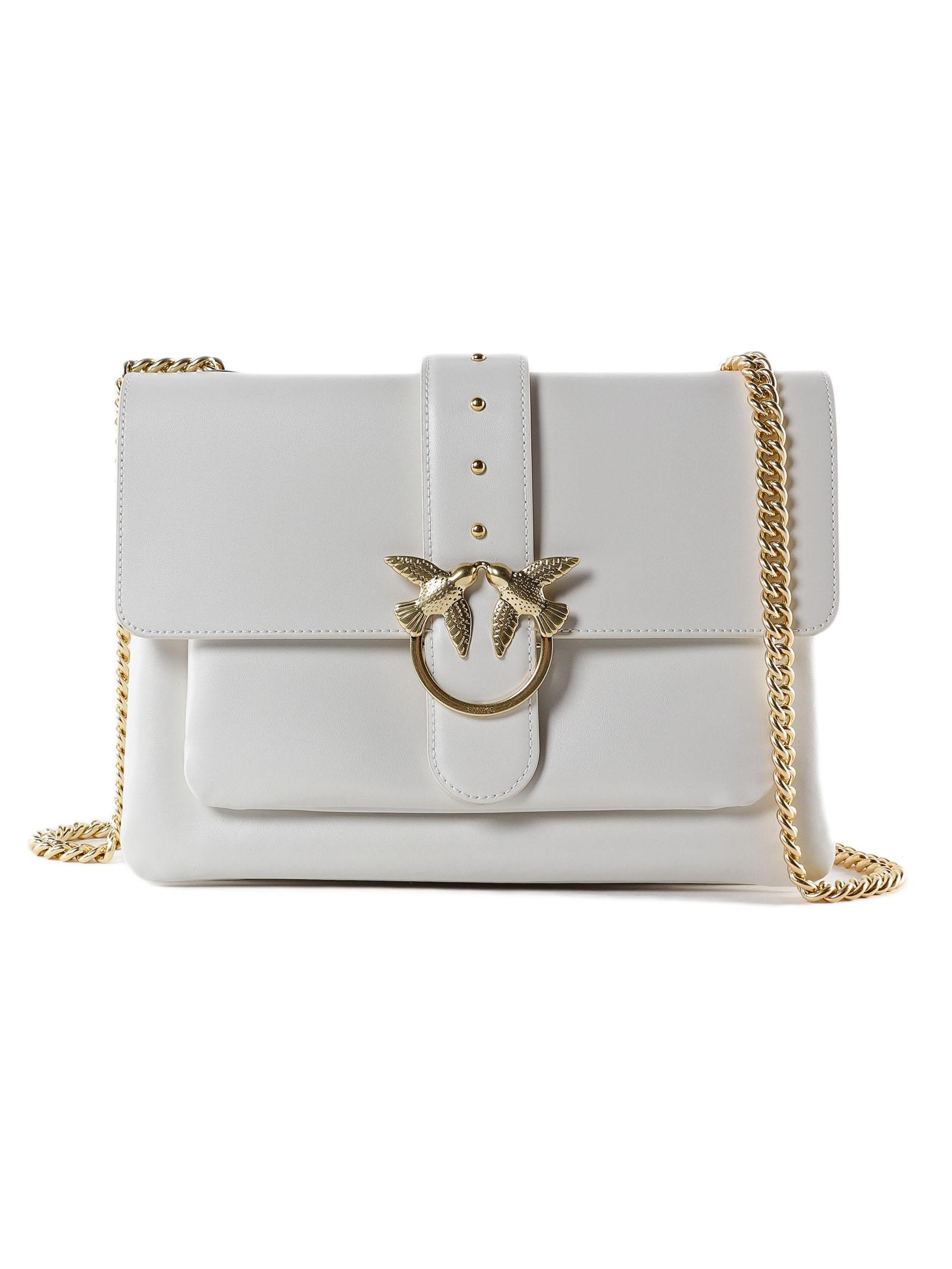 dc02d7e9d6511 Lyst - Pinko Big Love Simply 1 Bag in White