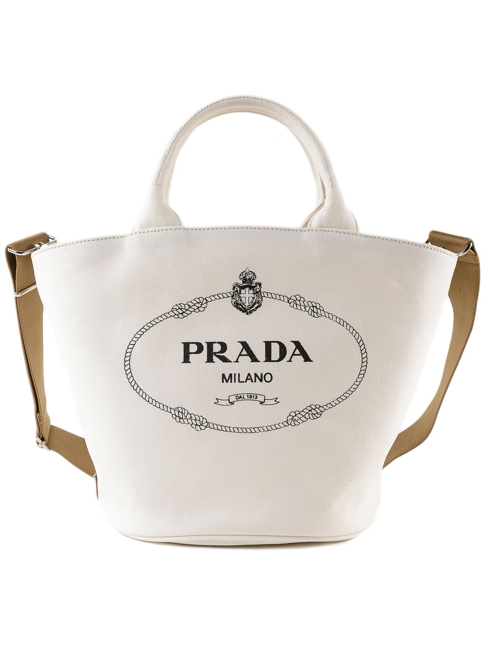 d9430ad9655d3 Prada - Multicolor Handbag Canapa - Lyst