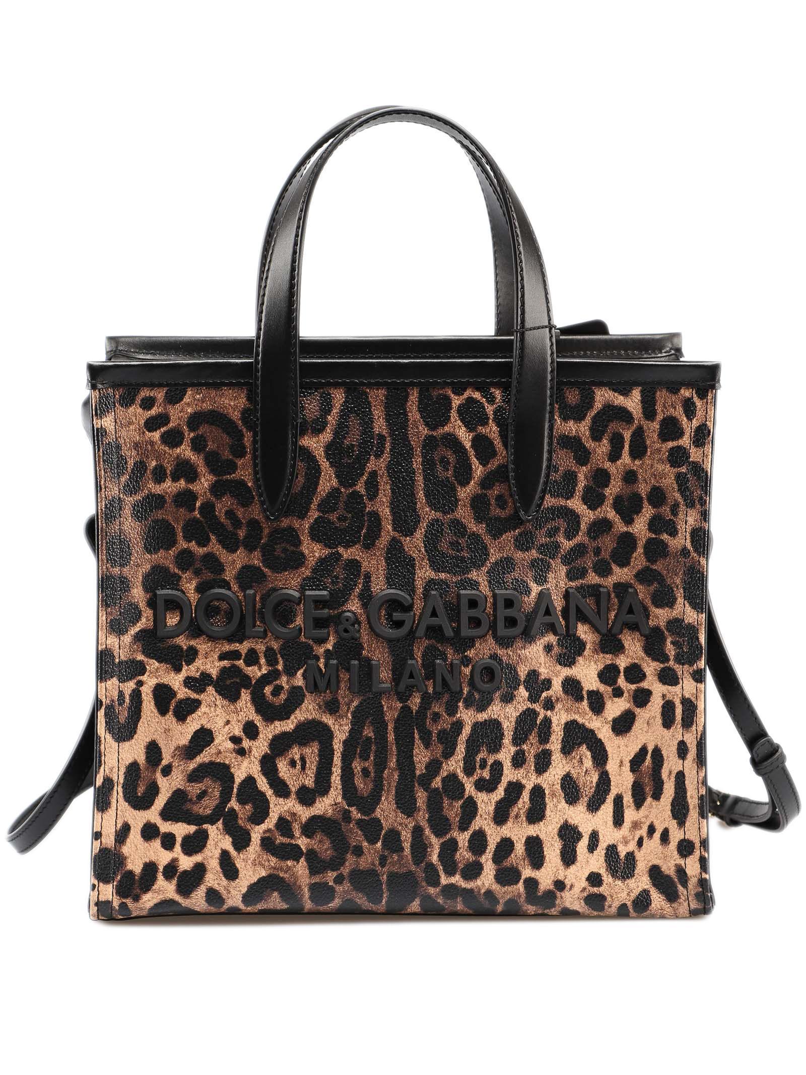 3a9a3616bf0e Lyst - Dolce   Gabbana Crespo Leo Shopping Bag