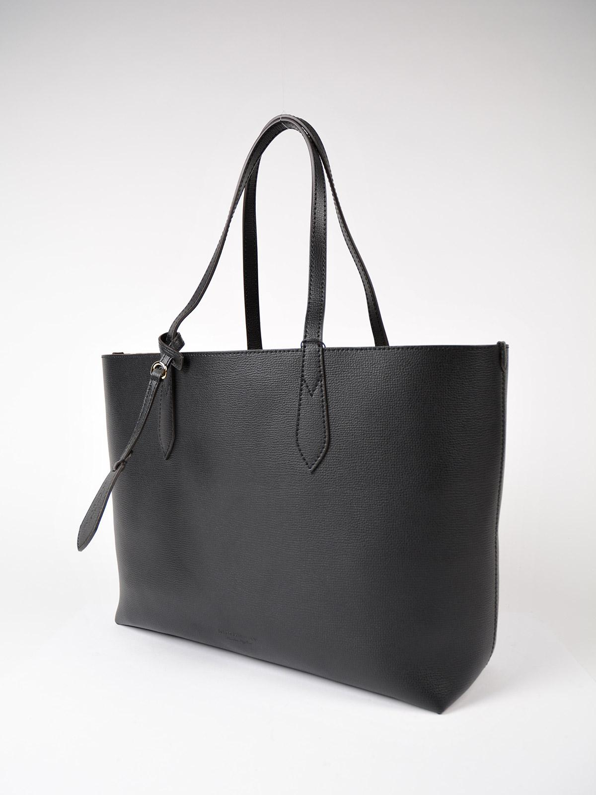 Burberry Leather Md Reverse Tote in Black