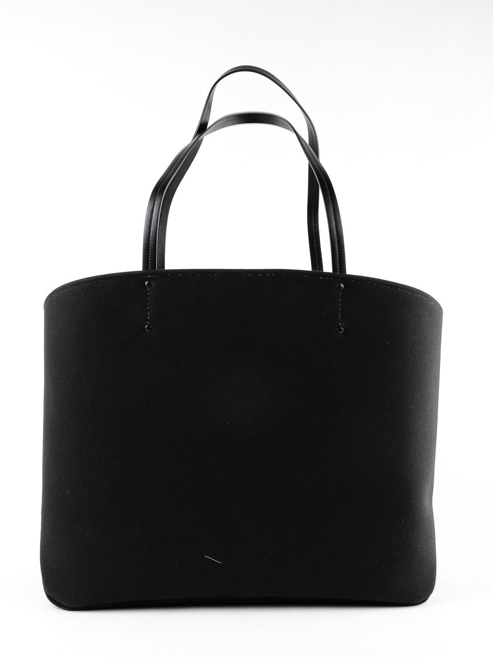 Prada Cotton Canapa Tote in Black