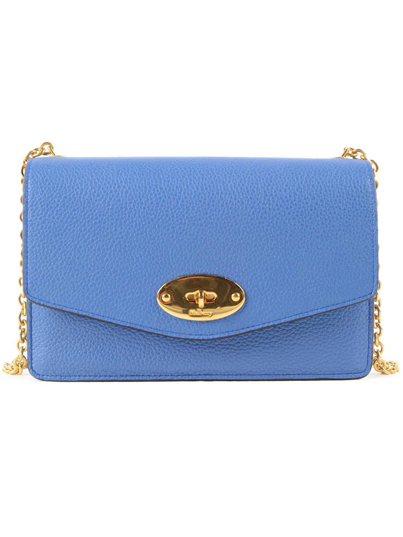 0a4b0ae4c7 Mulberry Postmans Lock Clutch in Blue - Lyst