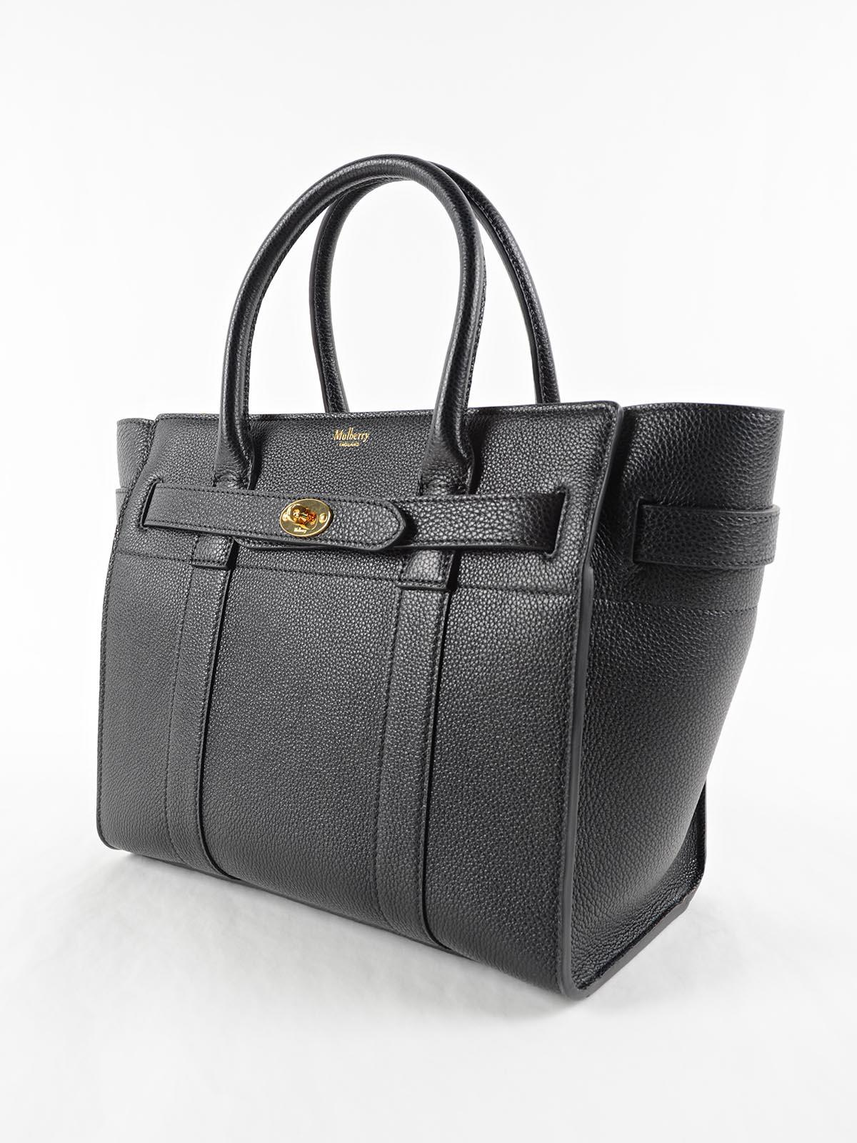 a69664c036b6 Mulberry Small Zip Bayswater Bag in Black - Lyst