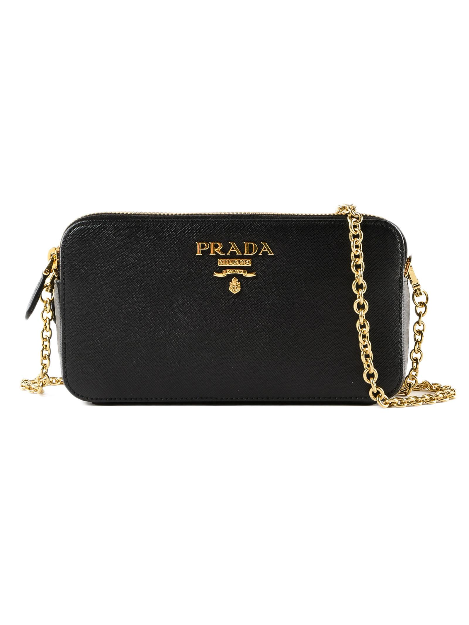 9601e2abe2ae Prada - Black Mini Bag Saffiano - Lyst. View fullscreen