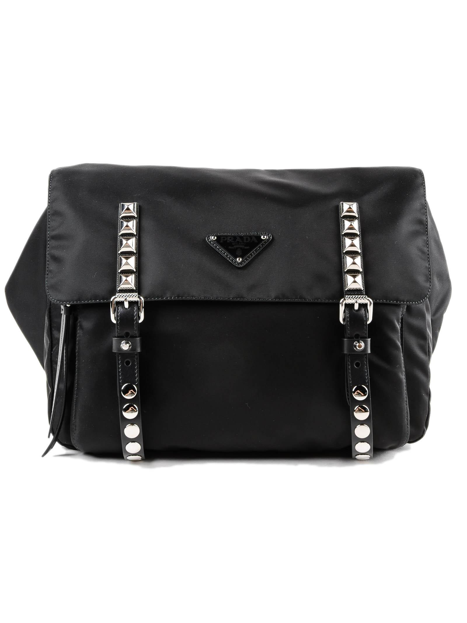 6c7d48c63409 Lyst - Prada Belt Bag New Vela in Black