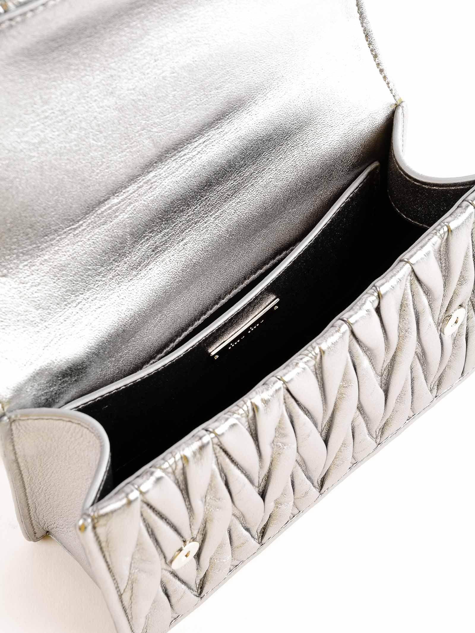 Miu Miu Leather Matelasse Crossbody Bag