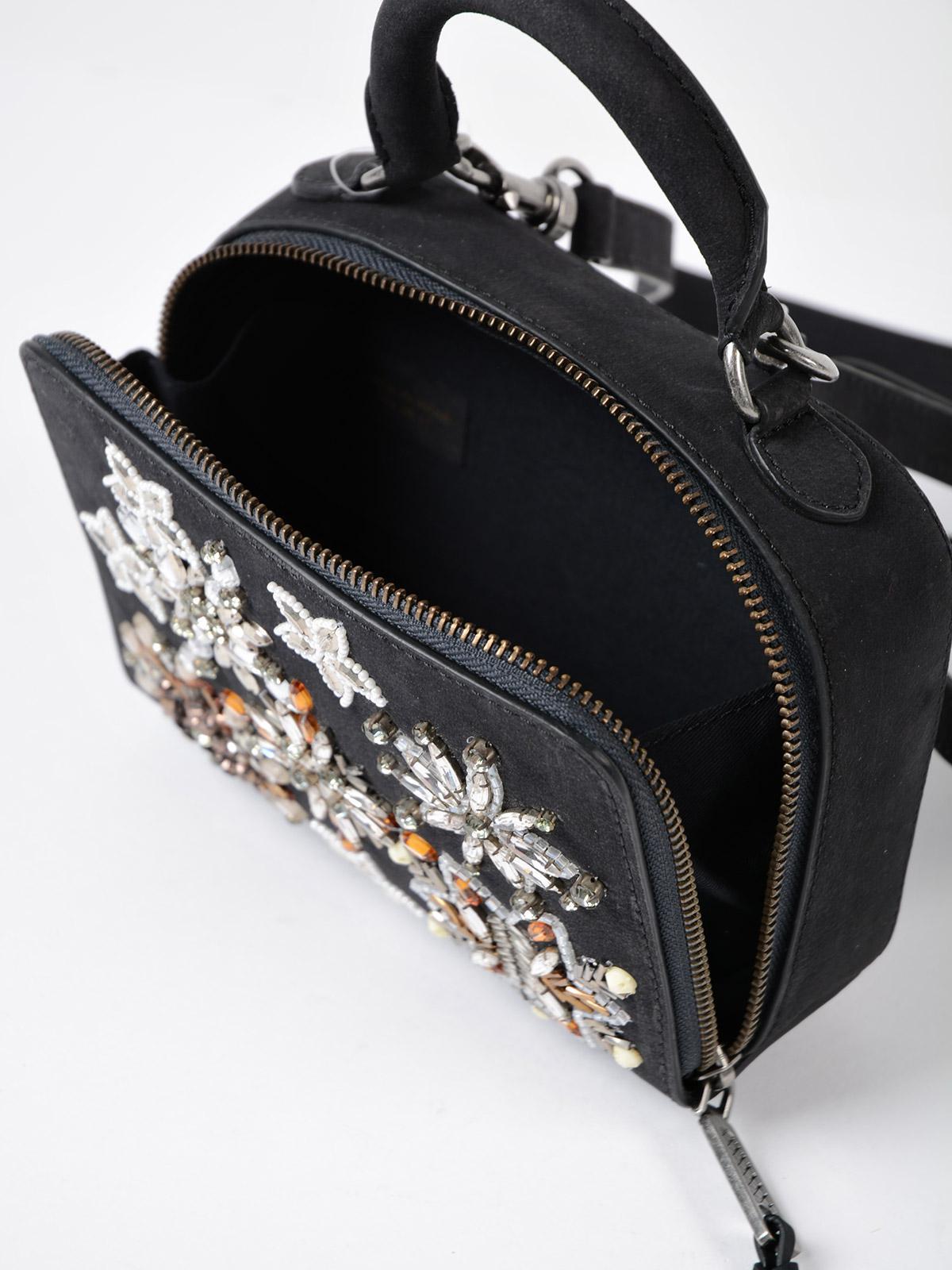 Rebecca Minkoff Leather Women's Box Nubuck Cross Body Bag in Black