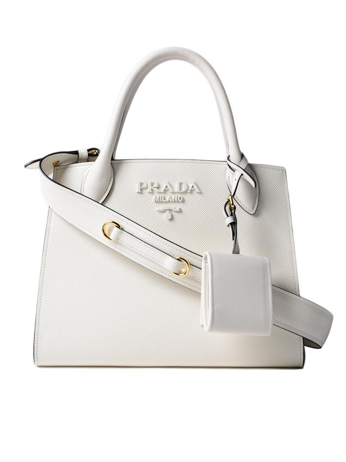 23bdc6092d89 Prada Monochrome Handbag - Lyst