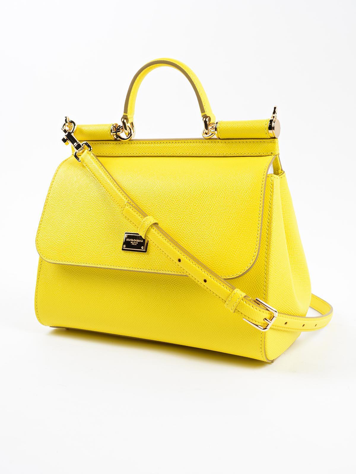 Dolce   Gabbana St.dauphine Handbag in Yellow - Lyst cf3b4f530310b