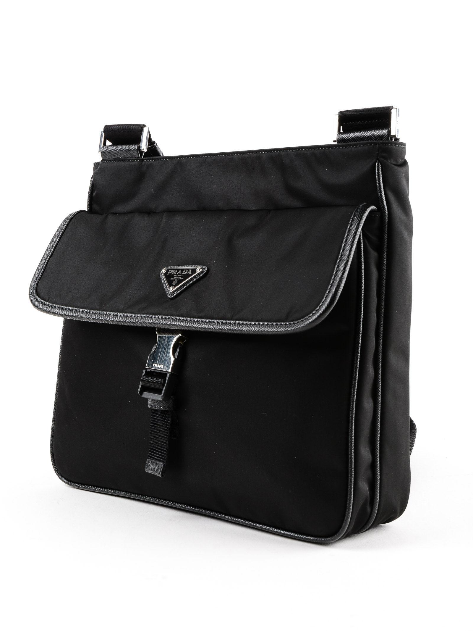 78c41a6f97c2 get lyst prada tessuto impunturato satchel bag in black 325a7 a57d6