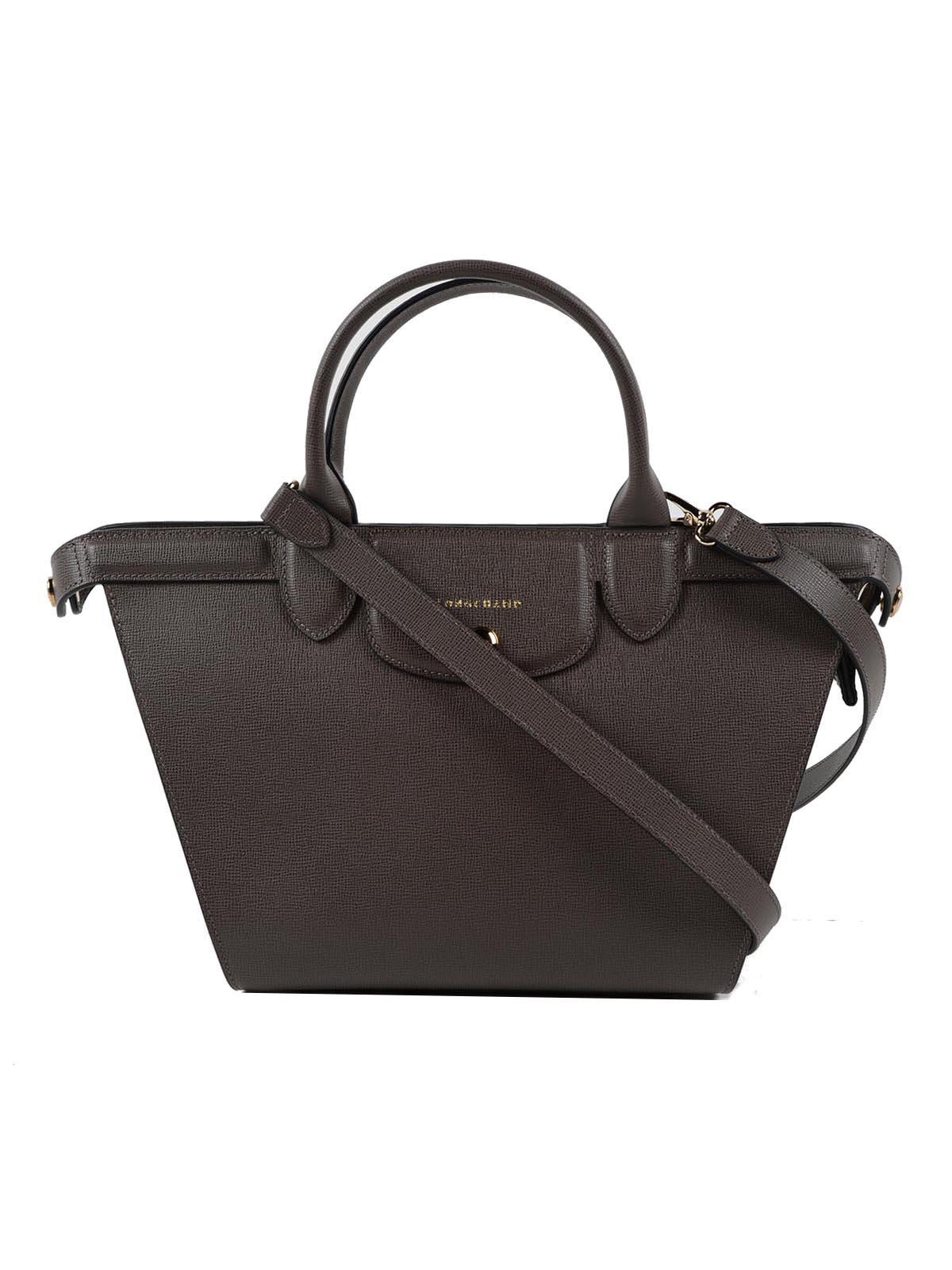 lyst longchamp le pliage heritage handle bag m in black. Black Bedroom Furniture Sets. Home Design Ideas