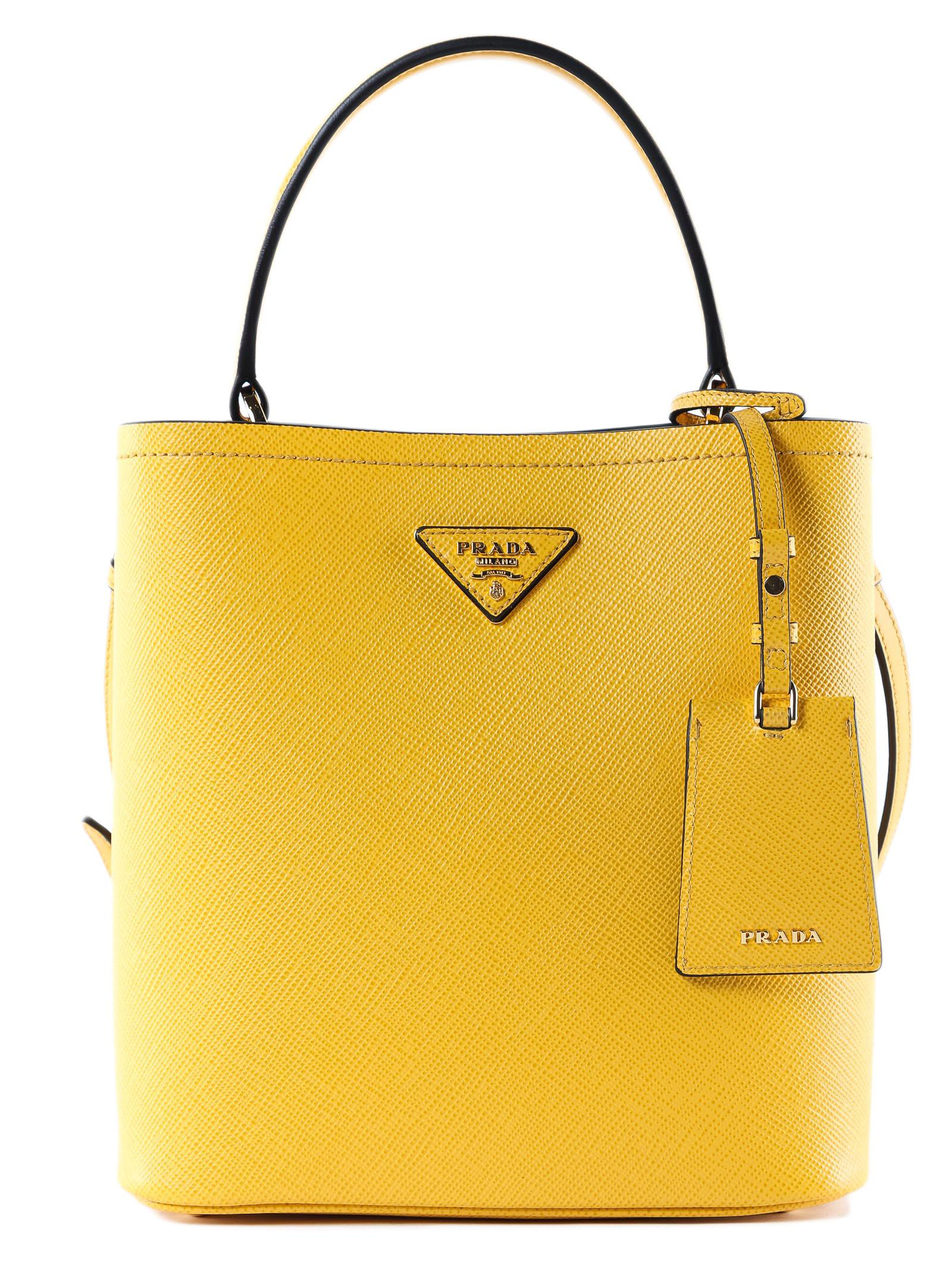 4dd1ef211b6a Prada - Yellow Handbag Saffiano+city Calf - Lyst. View fullscreen