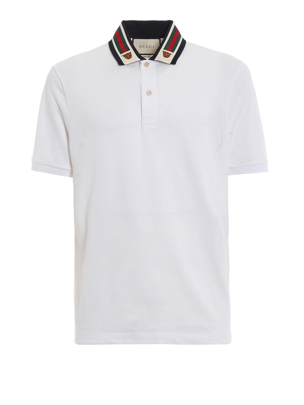b22aa5bbe218 Gucci - White Polo Shirt for Men - Lyst. View fullscreen