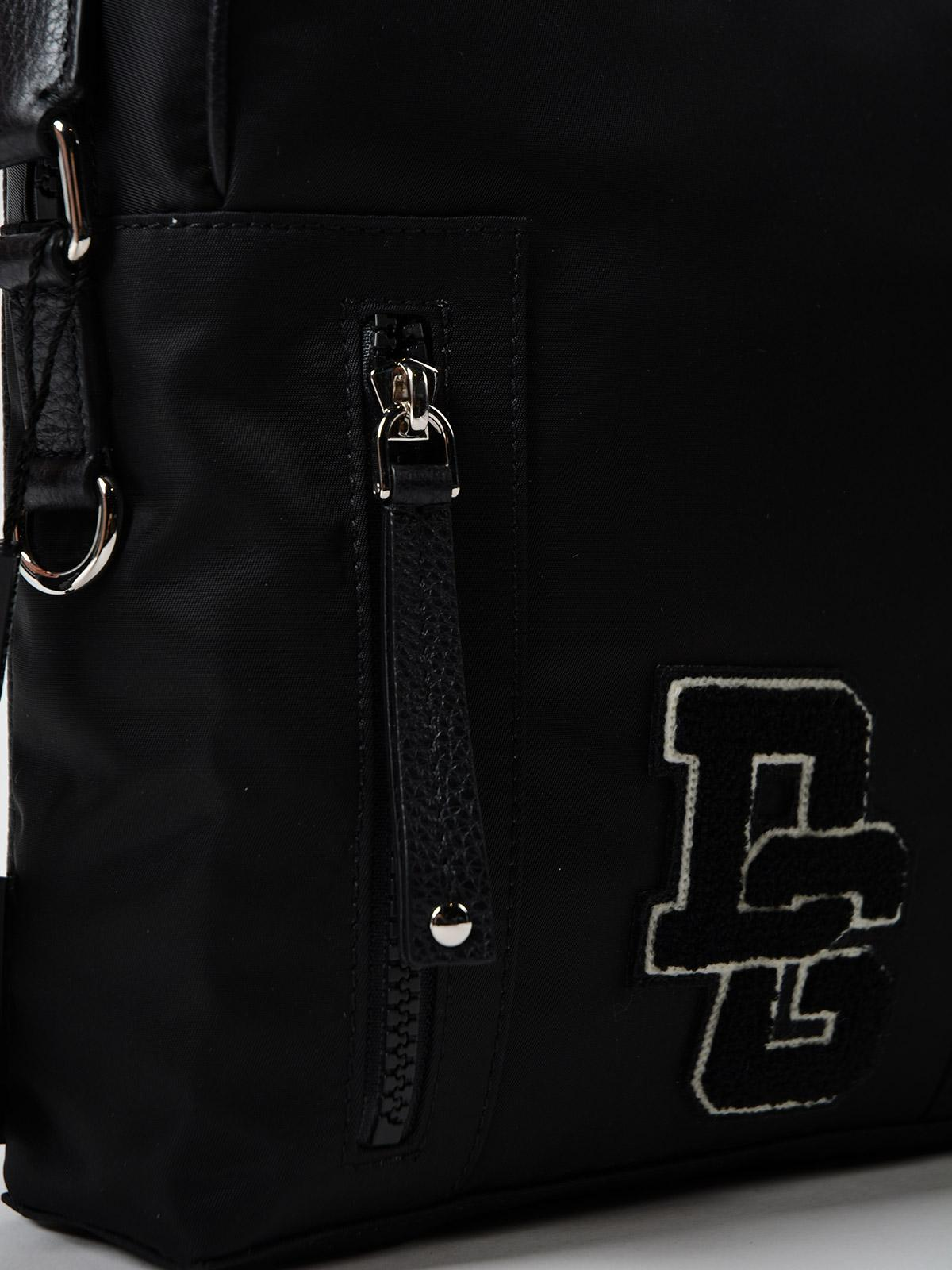 Dolce & Gabbana Synthetic Crossbody Bag Logo Dg Patch in Black