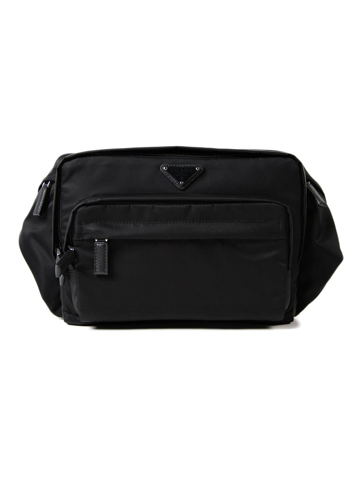 569b4589dd98 Prada Tessuto Montagna Belt Bag in Black for Men - Lyst