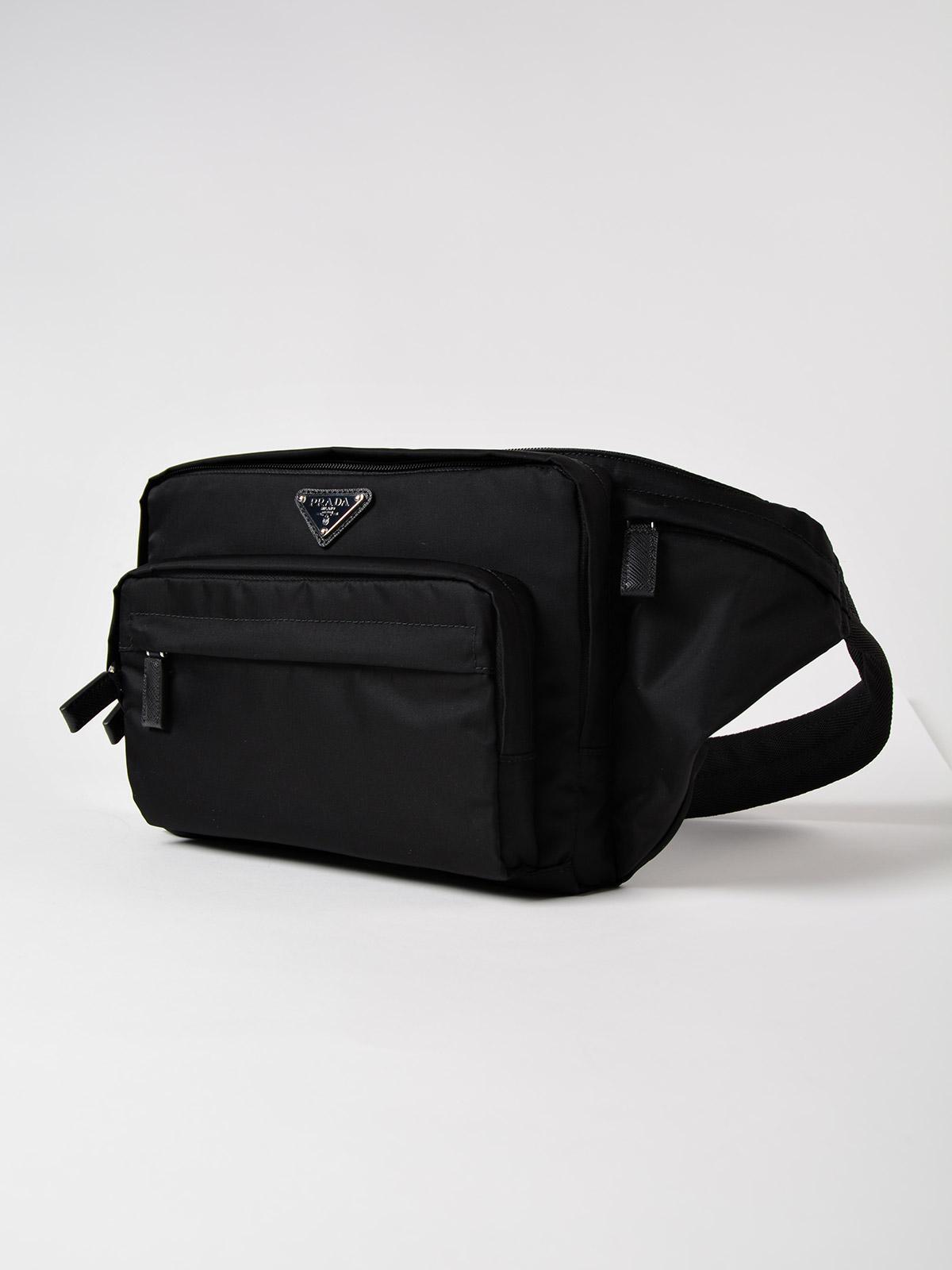 ed2701df2361 Prada Tessuto Montagna Belt Bag in Black for Men - Lyst