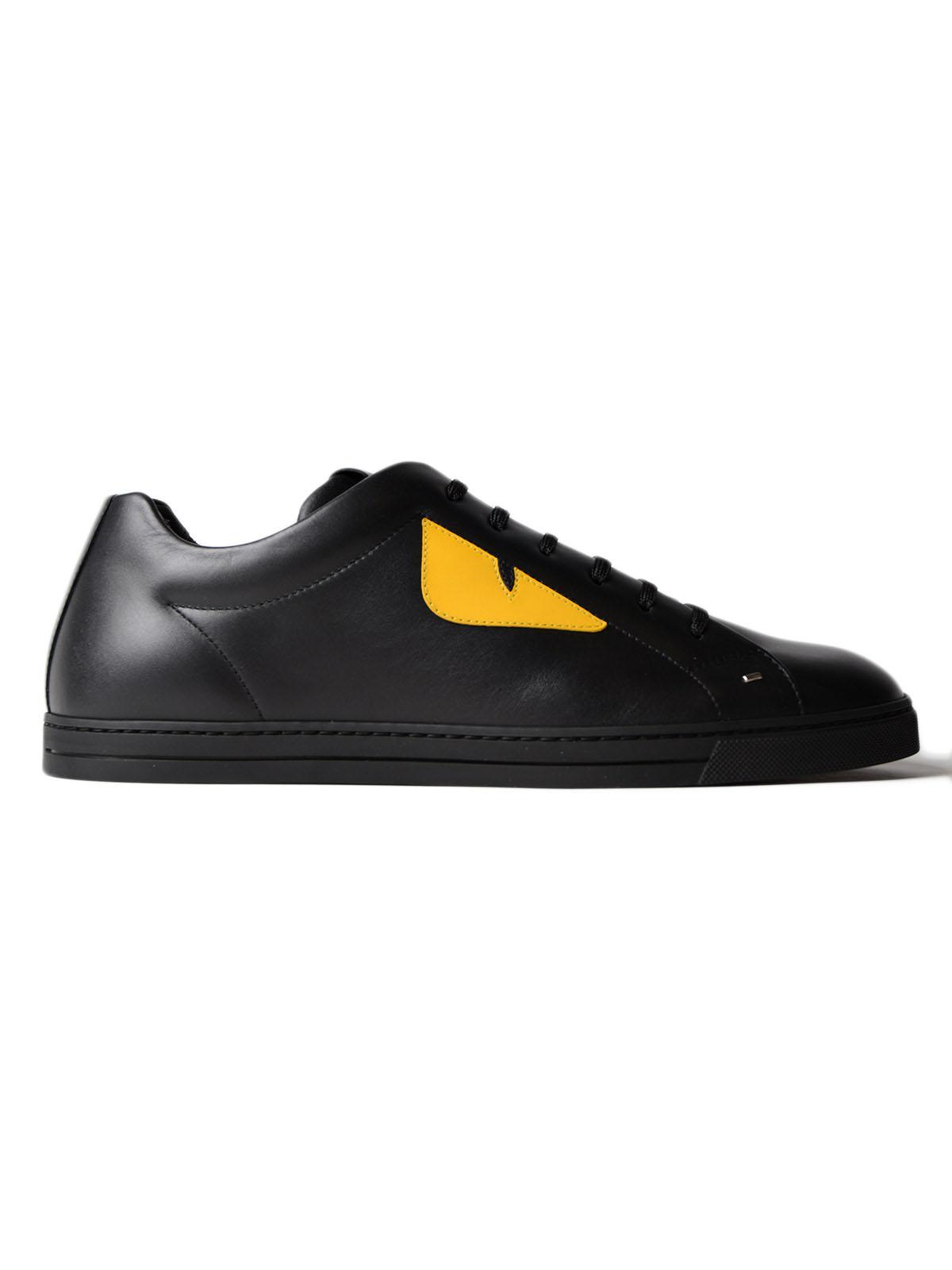 Fendi Black Embossed 'Forever Fendi' Sneakers tystKYVj