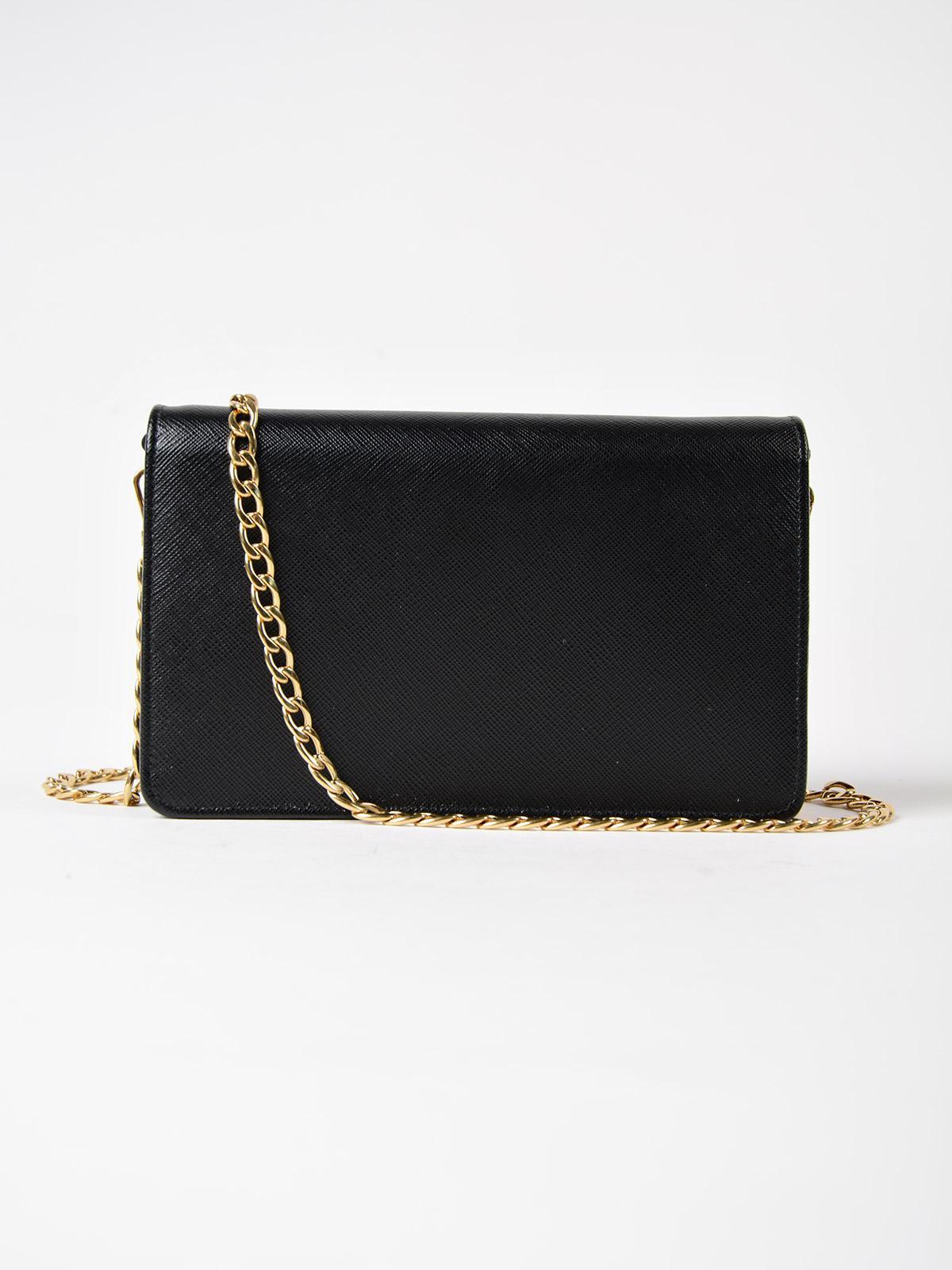 Lyst - Prada Saffiano Lux Wallet Bag in Black b6d338851ca05