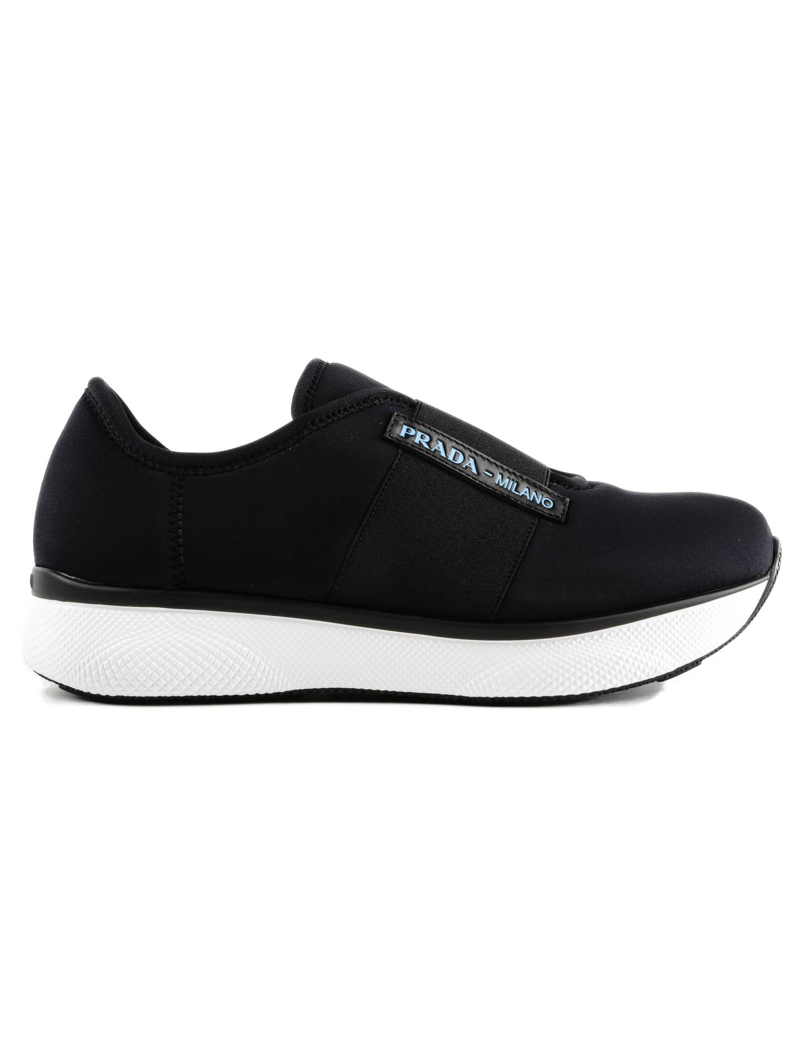 black Move neoprene sneakers Prada 8HcgKZz