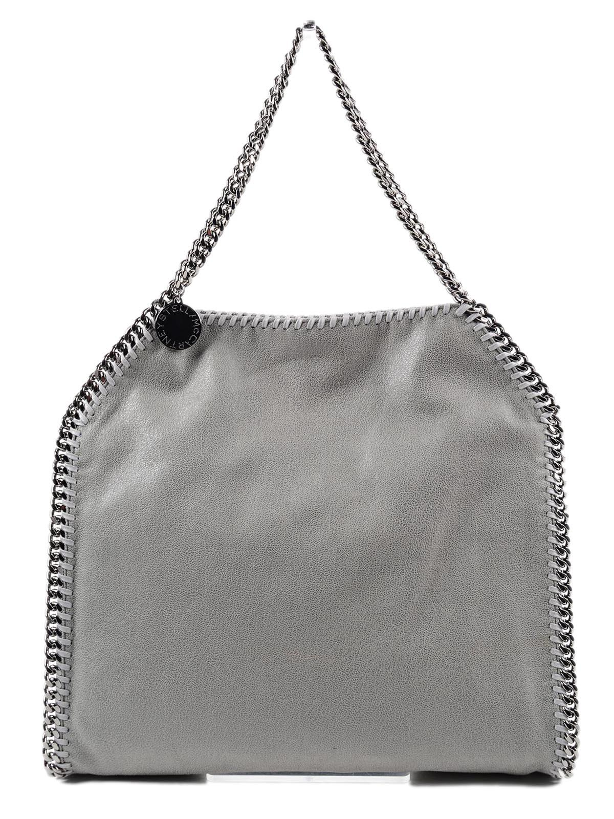 48ea1c81722 Stella McCartney. Women s Gray Shoulder Bag Falabella Small Tote shaggy Deer