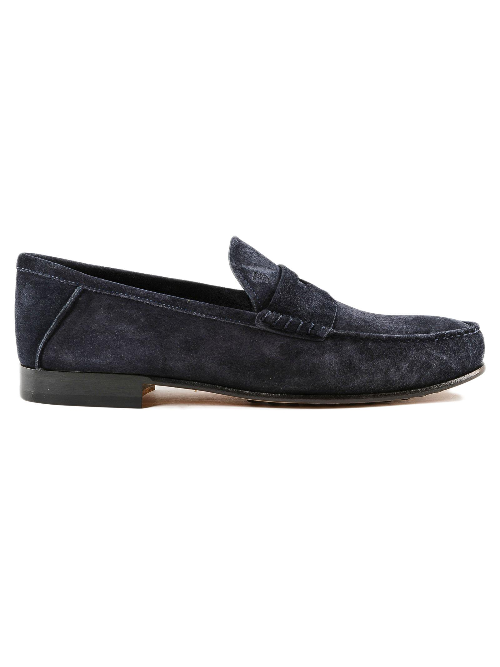 48be7b23ee618 Tod's Blue Suede Loafers Inject.sole for men. View fullscreen