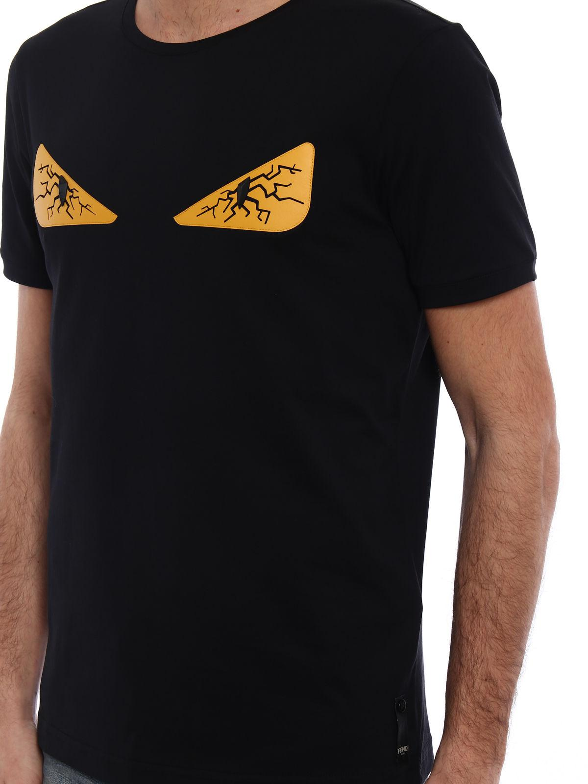 a239216738d7a6 Fendi Bugs Tired Eyes T-shirt in Black for Men - Lyst