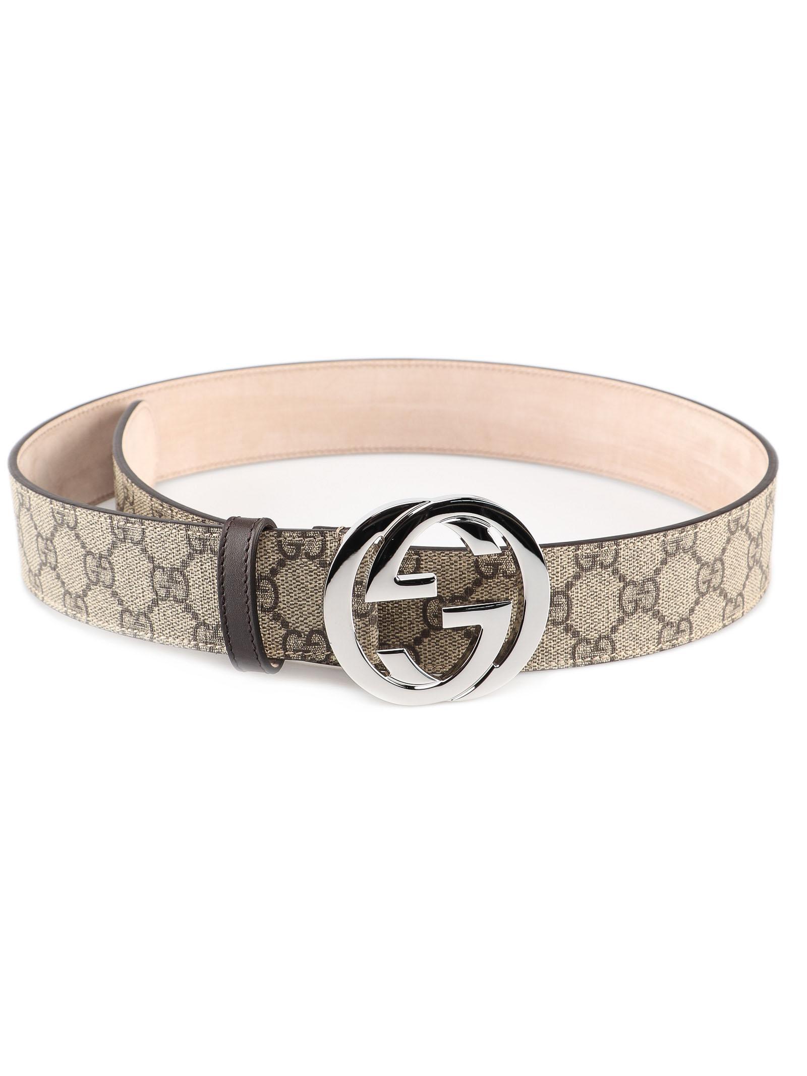 3e3b0f6e95c Gucci T.GG Supreme selleria Belt in Natural for Men - Lyst