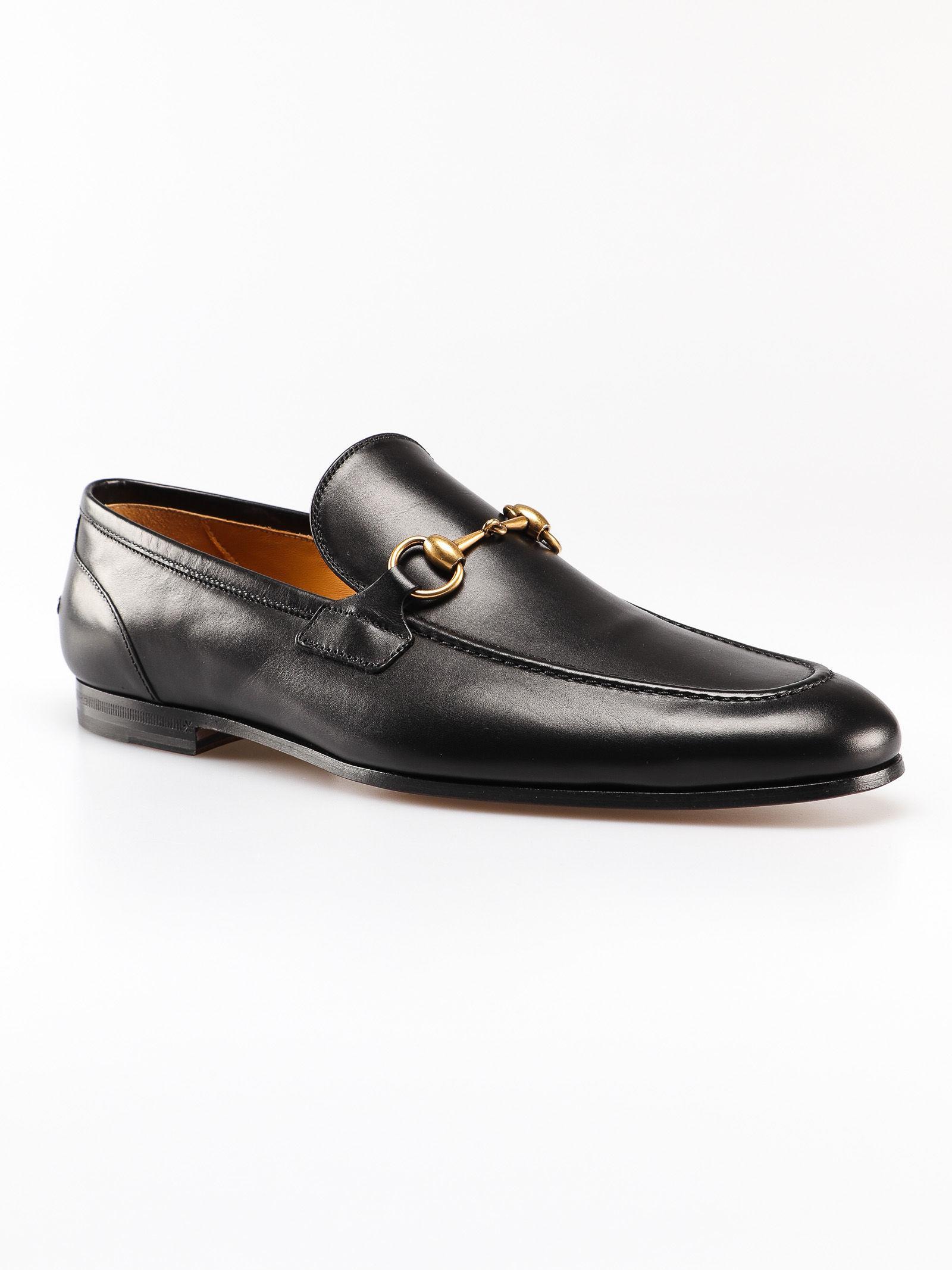 e2b7108ea Gucci Jordaan Loafers in Black for Men - Lyst