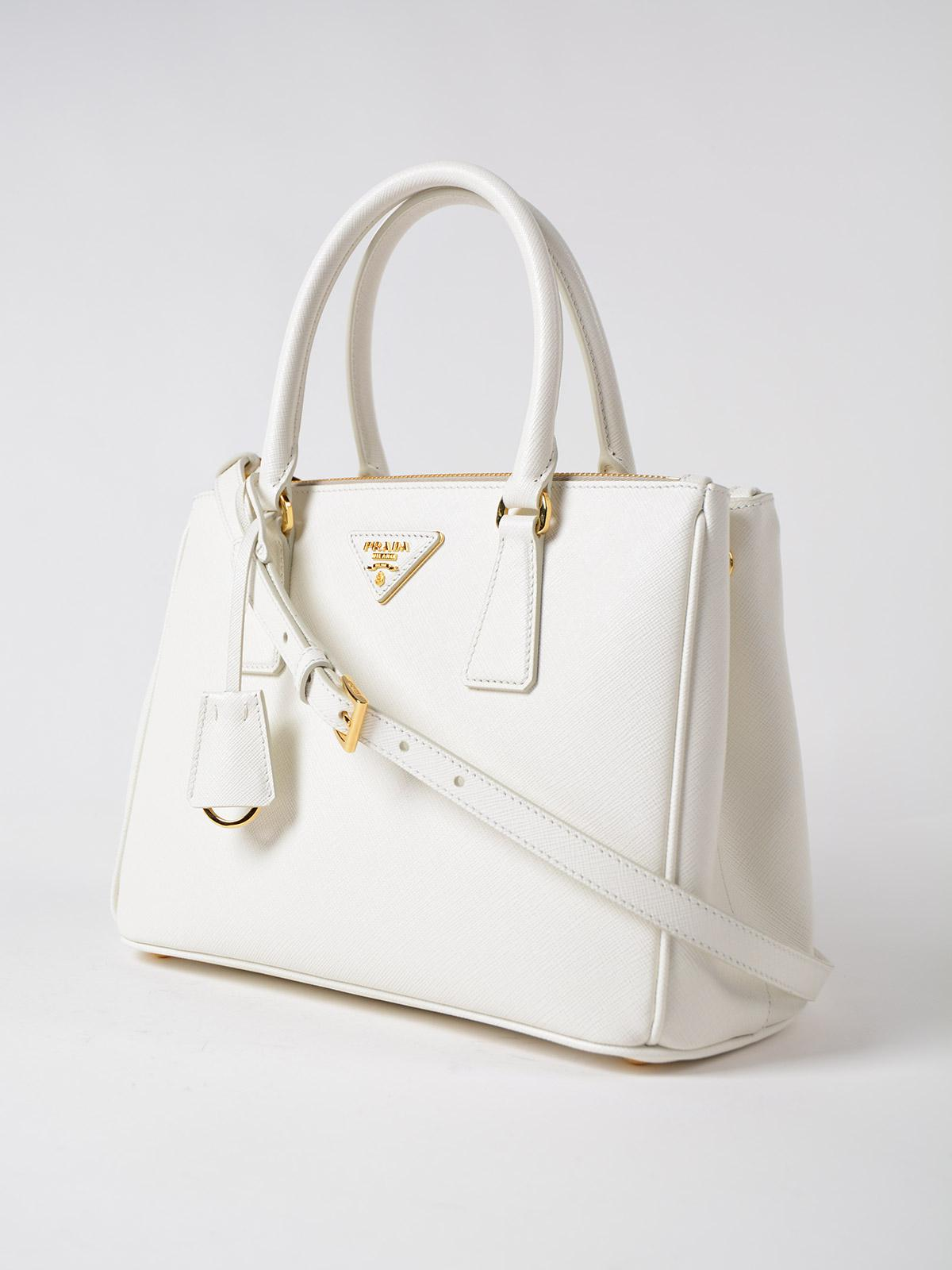 85d8d4cff75d new zealand lyst prada saffiano leather camera bag in white db5e0 d844c;  netherlands lyst prada saffiano lux galleria bag in white dc600 630f9