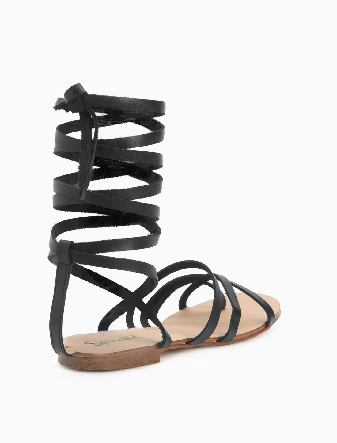 splendid carly sandal in black lyst. Black Bedroom Furniture Sets. Home Design Ideas