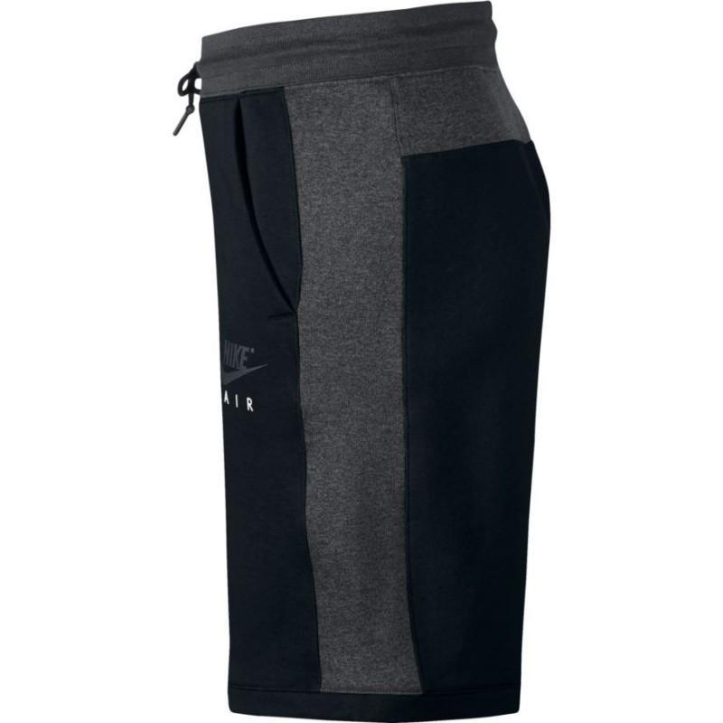 Short Air noir Coton Nike pour homme en coloris Bleu
