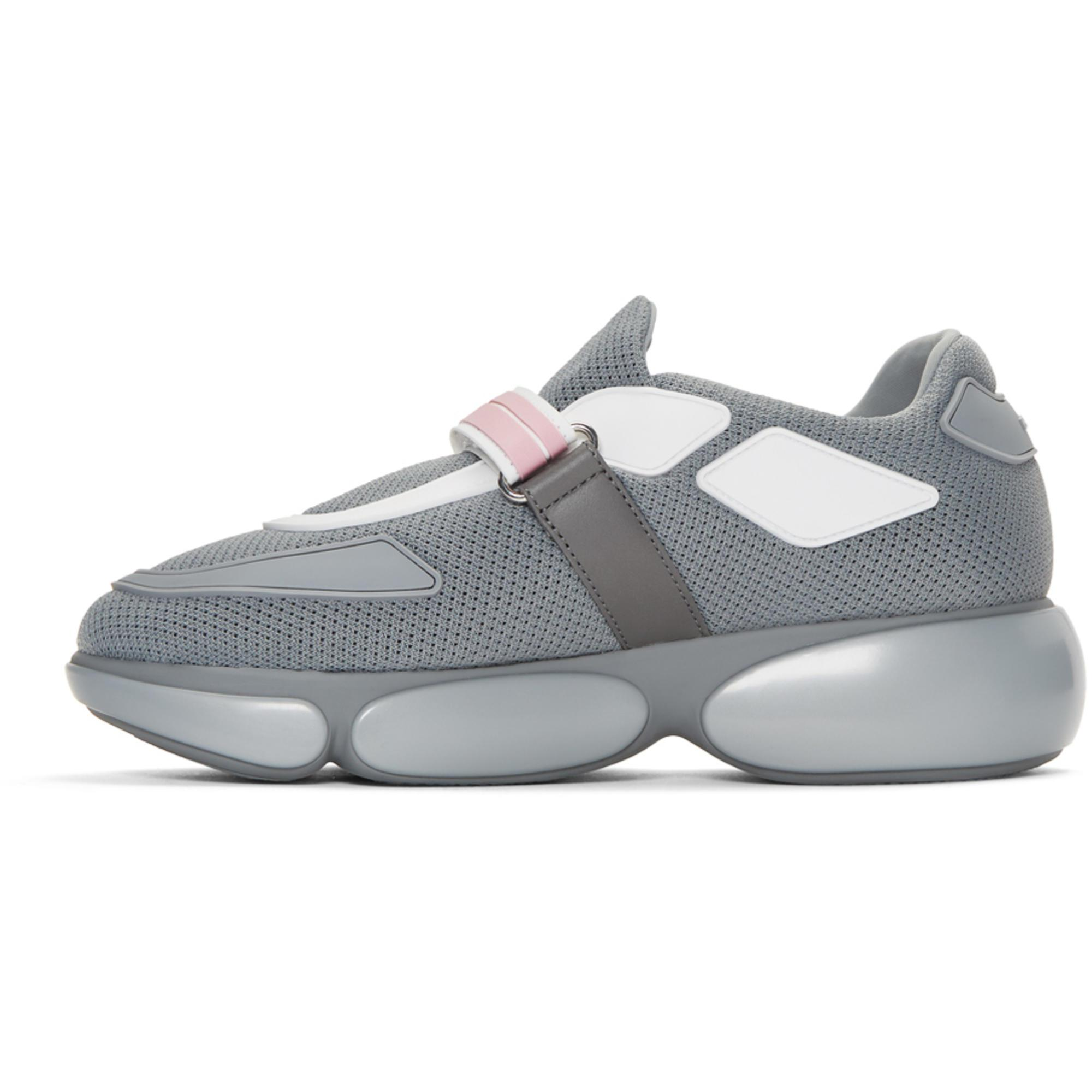 Prada Rubber Grey Cloudbust Sneakers in Grey for Men