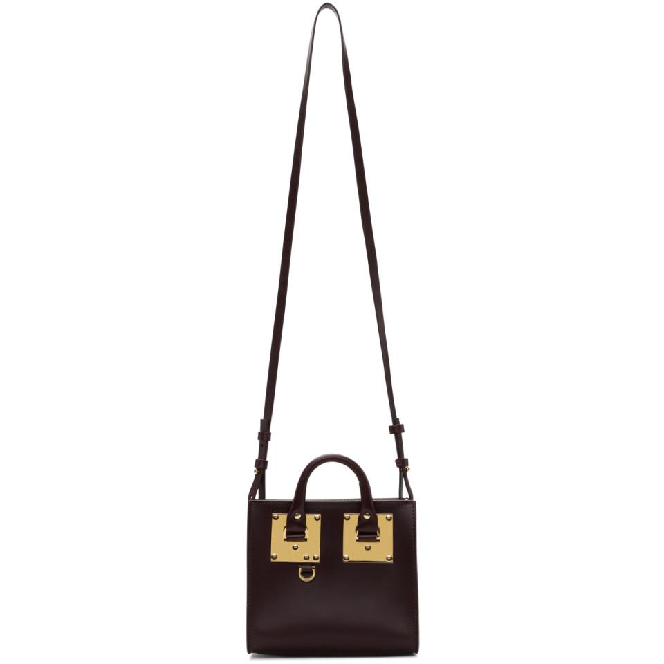 Sophie Hulme Leather Burgundy Albion Box Tote