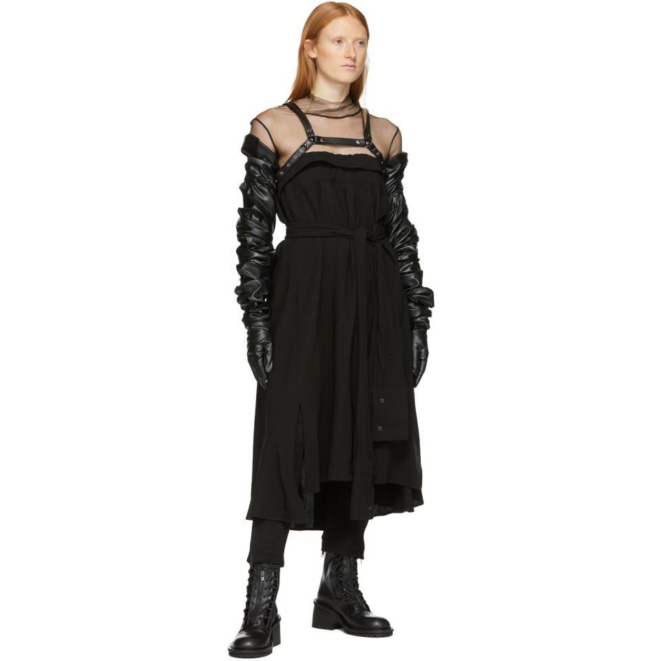 Col roule en filet noir Soie Ann Demeulemeester en coloris Noir