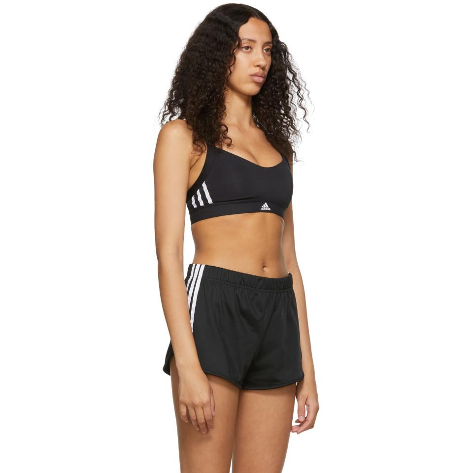 17601564a1566 Adidas Originals - Black All Me 3-stripes Sports Bra - Lyst. View fullscreen