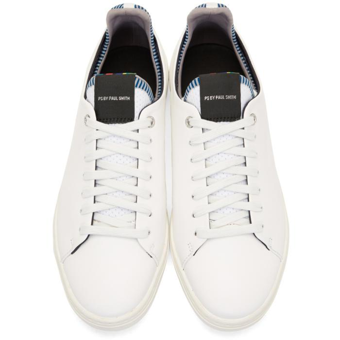 Paul Smith White Leather Sonix Sneakers