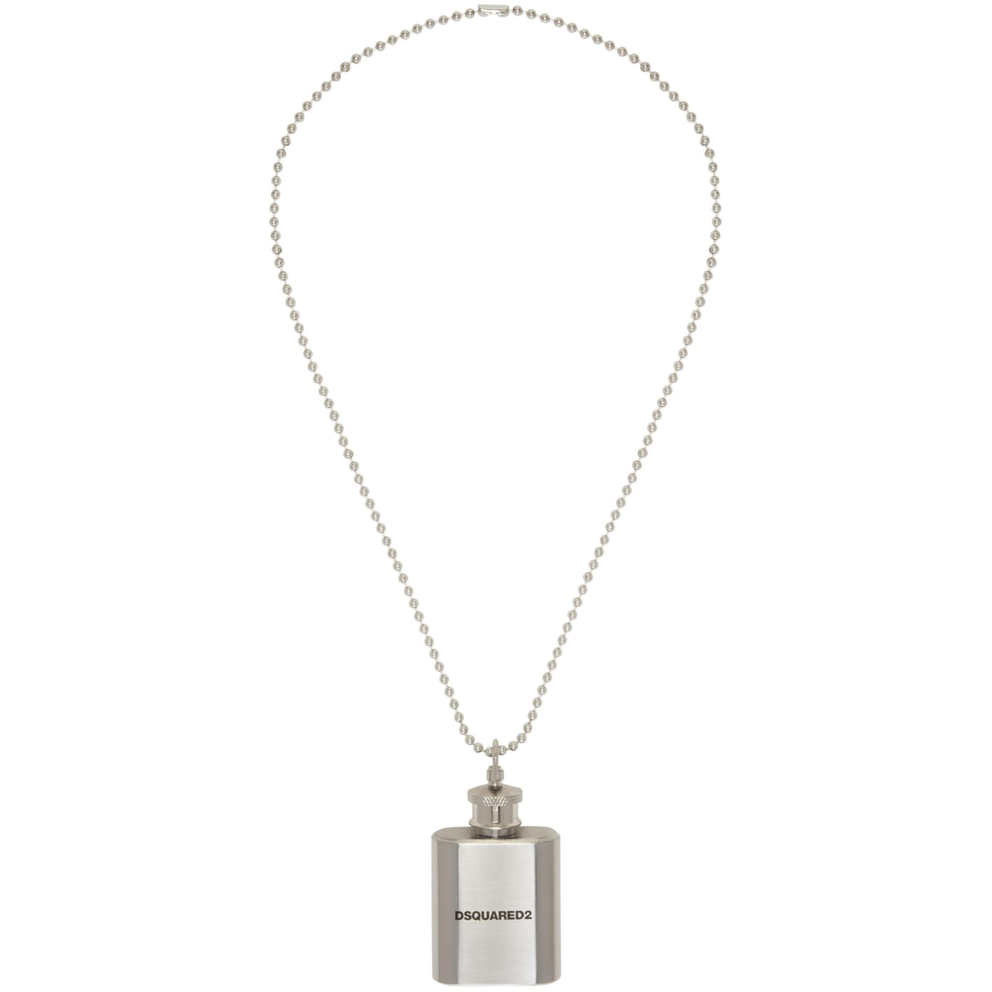 Dsquared2 charm pendant ball chain - Metallic 1uz1Cm