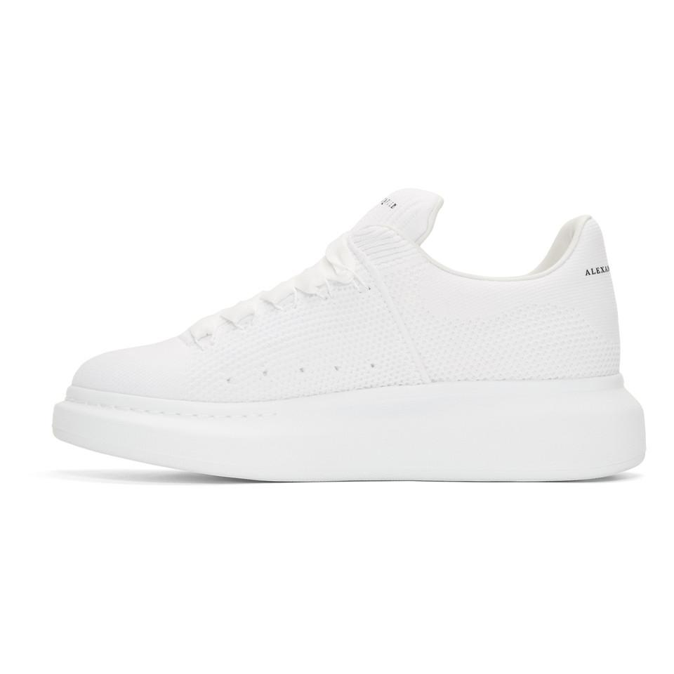 Alexander McQueen Leather White Knit