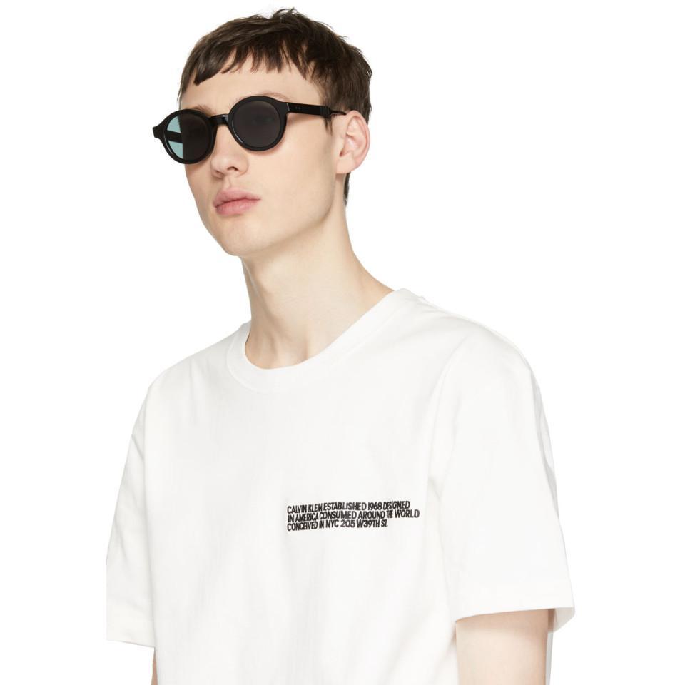 Thom Browne Black Tb-411 Sunglasses in Grey (Grey) for Men